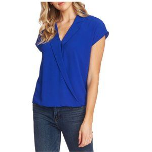 NEW Vince Camuto Notch-Collar Wrap Top Blouse M